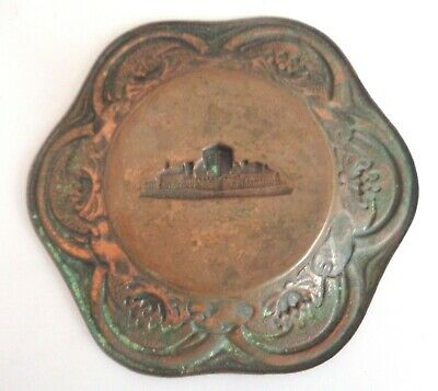 Antique Vintage1933 Chicago World's Fair Art Deco Nouveau Copper Change Tip Tray