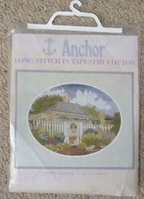 ANCHOR LONG STITCH in TAPESTRY COTTON - VISITING GRANDMA - UNUSED KIT 3280-27