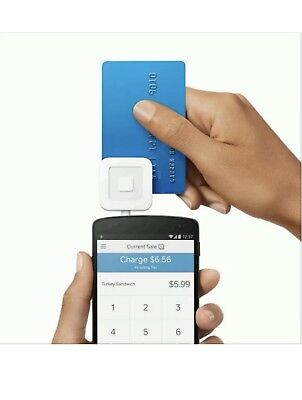 Brand New Square Credit Card Reader for Apple and Android - White FREE SHIPPING