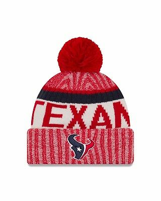 17d44377 HOUSTON TEXANS NEW Era 2018 Official Sideline Sport Knit Hat - Navy ...