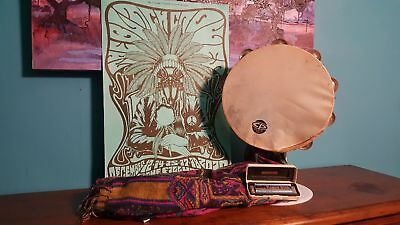 Chris Robinson/ Black Crows Owned/Played Tambourine/Harmonica & Poster