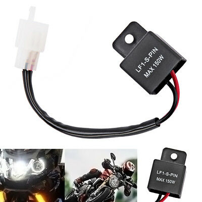 2-Pin Electronic LED Flasher Relay Motorcycle Turn Signal Bulbs Hyper Flash NEW