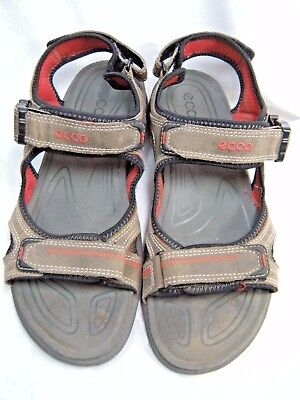 6f5381ed97b ECCO MENS HIKING Sandals US Size 10.5 Euro 44 Tan   Black  JS ...