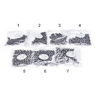 100X Fishing Egg Bullet Rig Sinkers Angling Lead Weight Split Shot Oval 6V2 ATAU
