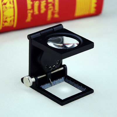 10X Folding Metal Loupes Stand Repair Fixing Craft Jewellery Magnifying Glass