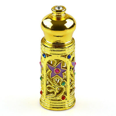 3ml Antiqued Glass Perfume Bottle Arab Style Metal Essential Oils Bottle Dropper