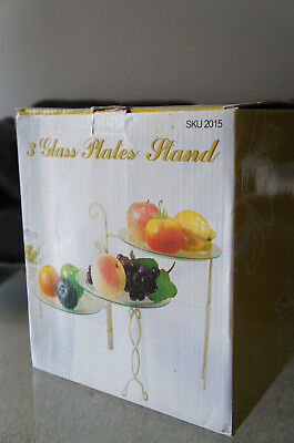 3 Glass Plates Stand cake stand  quick sale