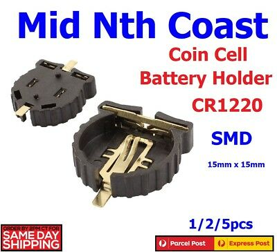 1/2/5pc Button Cell Coin Cell SMD Battery Socket Holder for CR1220 PCB Mountable