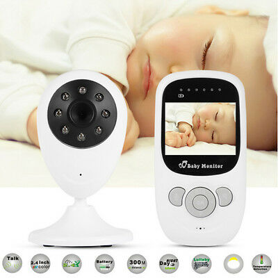 "2.4"" Wireless Video Baby Monitor Camera two way Audio Viewer Night Vision"
