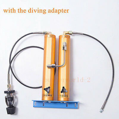 30Mpa Double Filter Barrel Pump Water-Oil Separator Filtration for Scuba Diving
