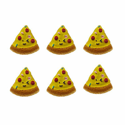12/20pcs Pizza Slice Resin Flatback Cabochons DIY Accessories Craft Findings
