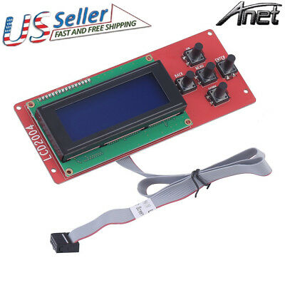 LCD 2004 Screen Display Controller with Cable for Ramps1.4 Anet A8 3D printer MX