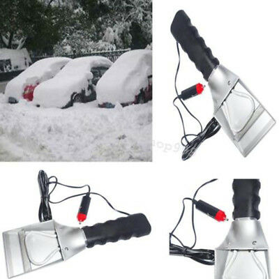 12V Car Electric Heated Windshield Ice Snow Scraper Cleaning Shovel Winter Tools