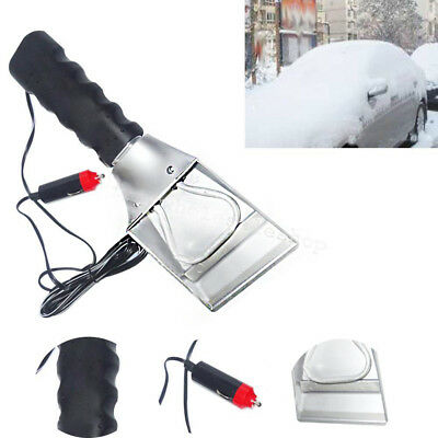 12V Car Auto Electric Heated Windshield Ice Snow Scraper Cleaning Shovel TOP Kit