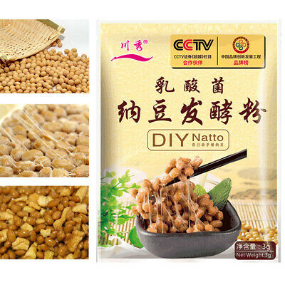3g/bag Natto Backpulver Gärungspulver Bacillus Subtilis DIY Natto Baking Powder