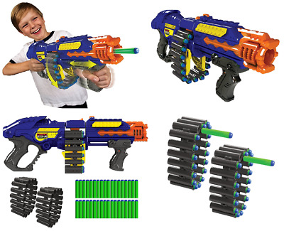 Zombie Blaster Strike Rapid Fire Foam Soft Darts Nerf Kids Toy Birthday Gift Gun