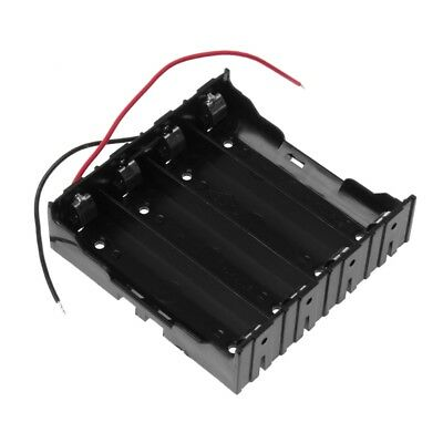 14.8V DC 4x 18650 Series Batteries Holder Box Storage Case Container With Wire
