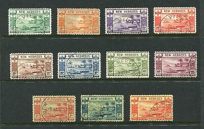 New Hebrides: 1938 Part Set of 11 to 5f SG52-62 Used AW161