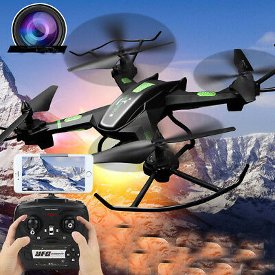720P HD Camera Drone RC Quadcopter 2.4G Wifi PFV Remote Control Helicopter Gift