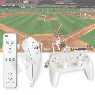 Classic Pro & Built in Motion Plus Remote + Nunchuck Controller For Wii & Wii U