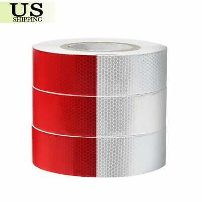"2""x150' 164' Dot-C2 Reflective Conspicuity Tape Safety Trailer Truck 6""red/White"
