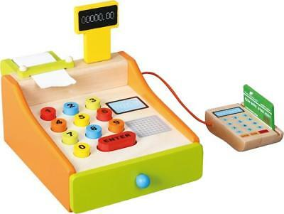 NEW Discoveroo Play Shop Wooden Cash Register with Card Machine