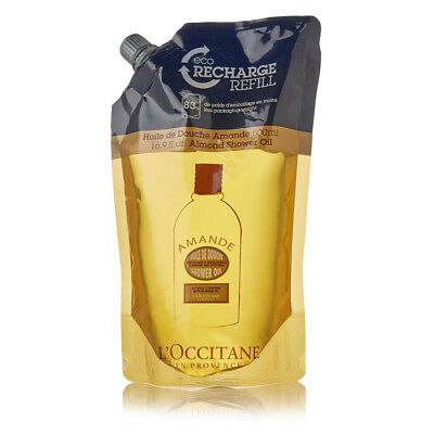 NEW L'Occitane Almond Eco Refill Shower Oil 500ml