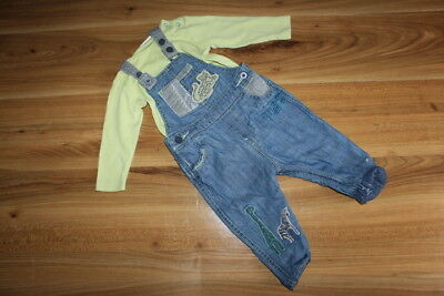 NEXT boys JUNGLE dungarees vest outfit 6-9 months *I'll combine postage