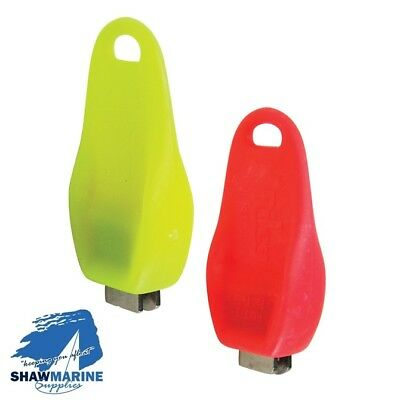 1 Mini Shackle Key Screwdriver U Shape Stainless Steel Insert Fluorescent Yellow