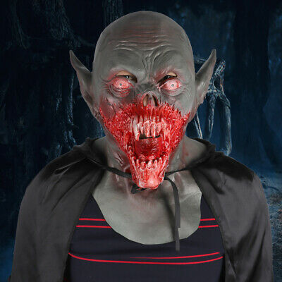 Scary Latex Zombie Vampire Mask Deluxe Bloody Demon Killer Film Party Costume
