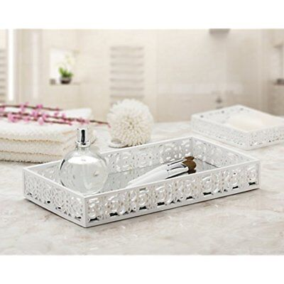 Home Decor Jewelry Make Up Bathroom Serving Dresser Perfume Vanity Mirror Tray