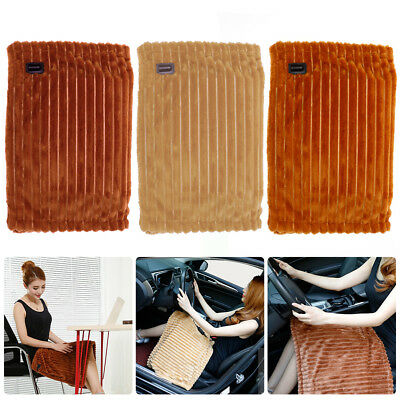 12V Large Electric Heated Car Van Truck Fleece Cosy Warm Blanket Travel