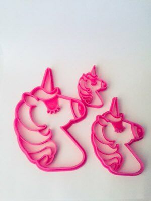 Unicorn Cookie Cutter Biscuit Horse Shape Pastry Fondant Sugarcraft Play Doh