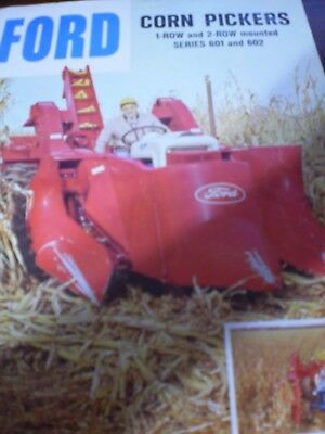 Ford 601, 602 Corn Pickers Sales Brochure 1963