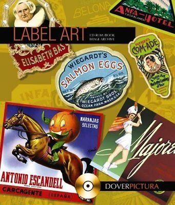 LABEL ART (DOVER PICTURA ELECTRONIC CLIP ART) By Alan Weller **BRAND NEW**