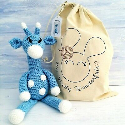 Crochet Kit - Blue Giraffe Luxury Kit-Complete Beginner Kit with Video Tutorials