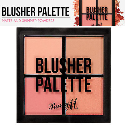 Barry M - Highly Pigmented Matte and Shimmer Face Cheek Blusher Palette Powder