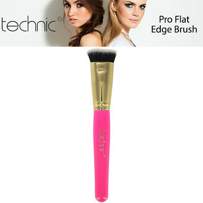 Technic Pro Flat Edge Makeup Face Highlighter Cheek Bones Jawline Blending Brush