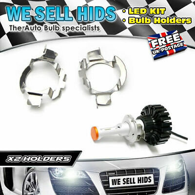 2x H7 LED HEADLIGHT BULB ADAPTERS RETAINERS HOLDERS A3 A4 BULB HOLDER B4