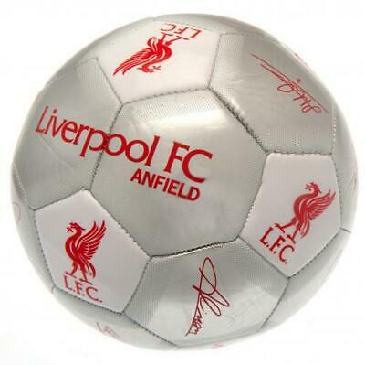 Liverpool Fc Lfc Silver Colour Signature Football Adult Size 5 New Xmas Gift