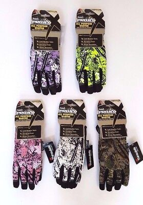 Camo Gloves Thinsulate Work Sport Hunting by Ansell Projex Mens Womens S M L XL