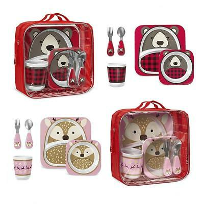 Skip Hop Zoo Kids Limited Winter Edition Tableware Children's Mealtime Gift Set