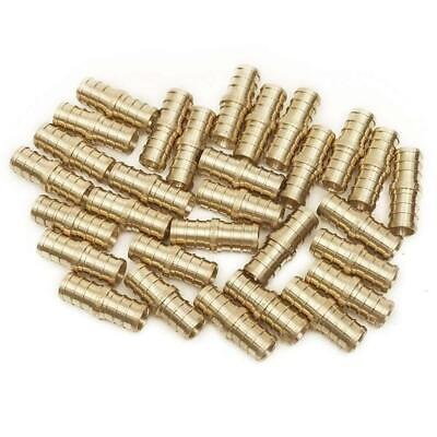 PEX 1/2 Inch Barb Straight Coupling Crimp Fitting - Bag of 25 pcs / Brass / 1/2""