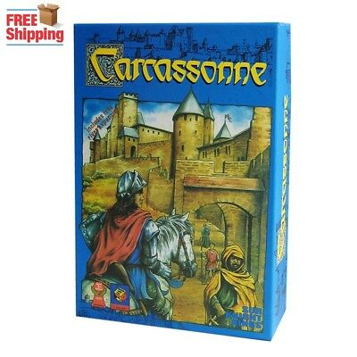 Carcassonne An English Board Game 2-5 Players Card Game For Party/Family/Friends