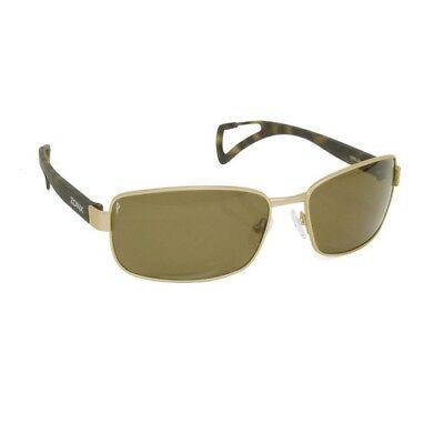 Zoinx 90025 Men's Wrap Polarized Sunglasses Bronze Frame Bronze Lens