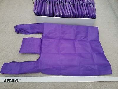 2 x Brand New Purple Foldable Pocket Reusable Shopping Tote Bags