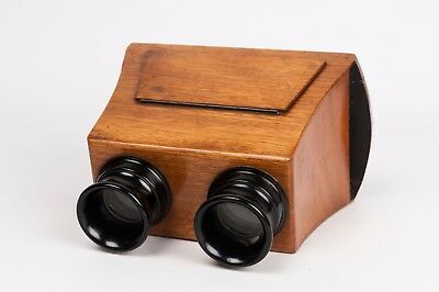 Stereoscope , wood stereo viewer for 6x13 cm