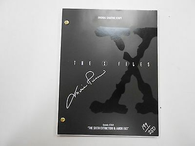 SIGNED limited edition X-Files script! Mitch Peleggi AUTOGRAPHED! #199/250 w/COA