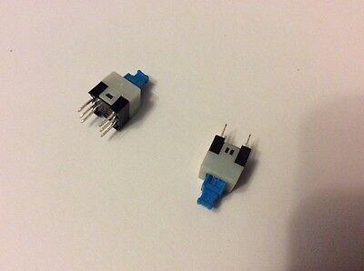 1 x Latching 7x7mm Mini Tactile Push Button Switch On-Off DIP-6pins