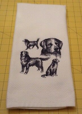 Bernese Mt Dog Collage Sketch Embroidered Williams Sonoma Kitchen Hand Towel